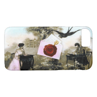ROMANTIC VALENTINE LETTER ,RED WAX SEAL iPhone 8/7 CASE