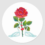 Romantic Valentine Swans Stickers