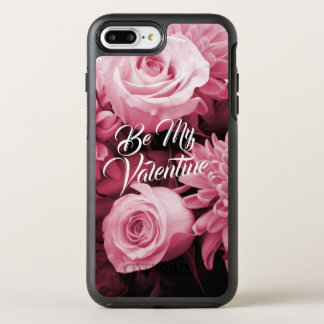 Romantic Valentines Day Antique Pink Roses OtterBox Symmetry iPhone 8 Plus/7 Plus Case