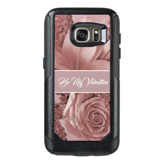 Romantic Valentines Day Dusty Rose and Lily OtterBox Samsung Galaxy S7 Case