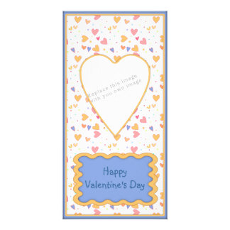 Romantic Valentine's Day heart design Personalised Photo Card