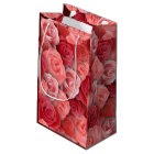 Romantic Valentines day pink and red roses Small Gift Bag