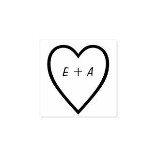 Romantic Valentines Decor Custom Text Rubber Stamp
