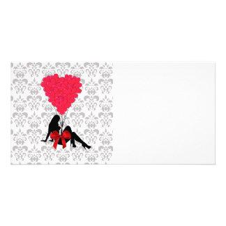 Romantic Valentines design Picture Card