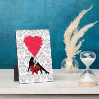 Romantic Valentines design Plaque