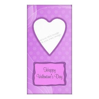 Romantic Valentine's heart design Photo Cards