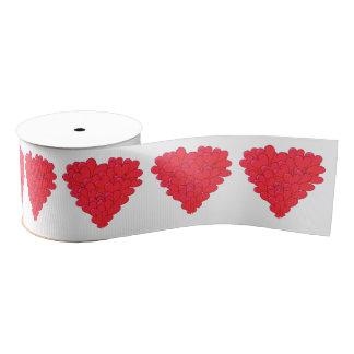Romantic Valentines love heart Grosgrain Ribbon