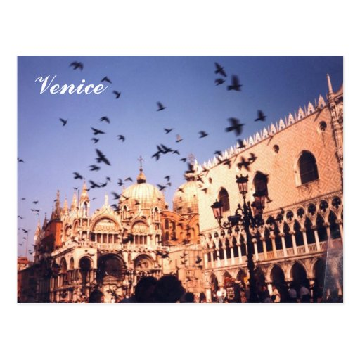 Romantic Venice Italy Post Card