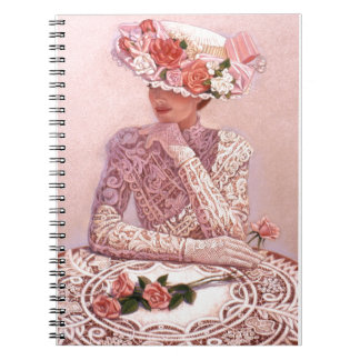 Romantic Victorian Lady Notebook