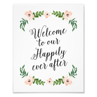 Romantic Vines Happily Ever After Print Photograph