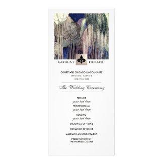 Romantic Vintage Art  Custom Wedding Program Rack Card