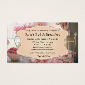 Romantic Vintage Bed and Breakfast Business Card