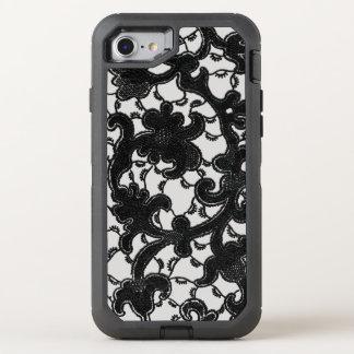 Romantic Vintage Black Lace OtterBox Defender iPhone 8/7 Case