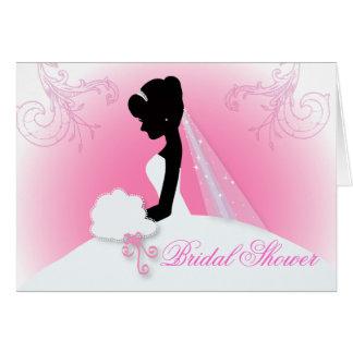 romantic vintage bride silhouette bridal shower card