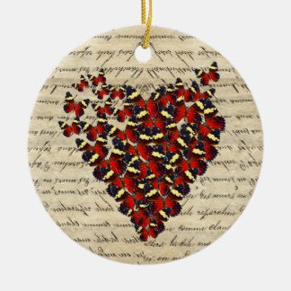 Romantic Vintage butterfies Christmas Ornament