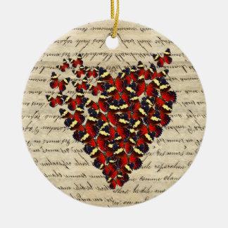 Romantic Vintage butterfies Ornaments