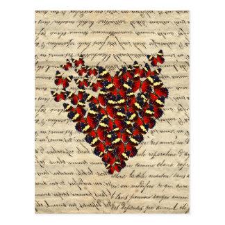 Romantic Vintage butterfies Post Card