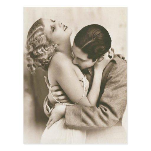 Romantic Vintage Couple Post Card