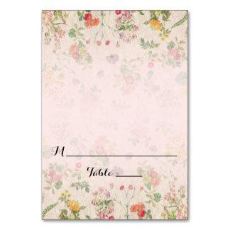 Romantic Vintage Floral Wedding Escort Place Card