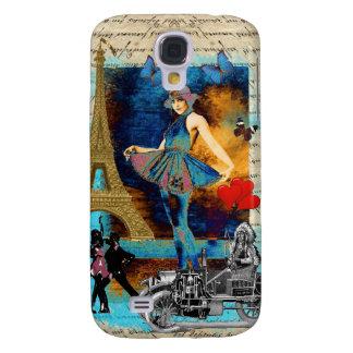 Romantic vintage Paris collage Galaxy S4 Case