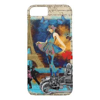 Romantic vintage Paris collage iPhone 8/7 Case