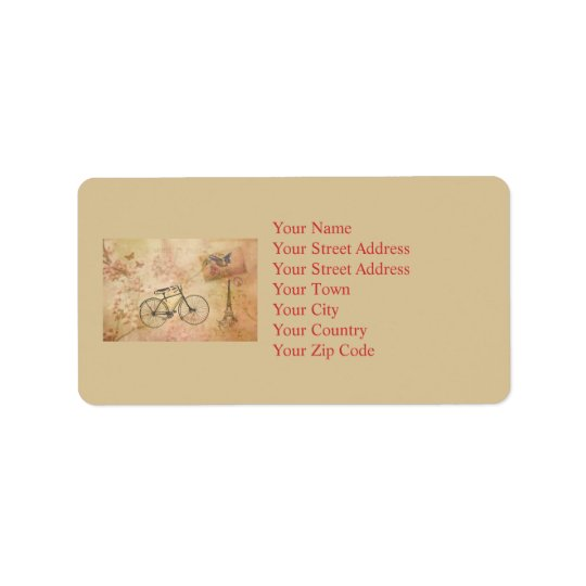 Romantic Vintage Paris in Spring Collage Address Label