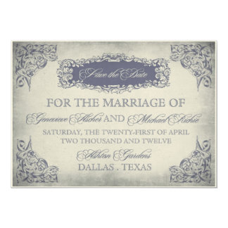 Romantic Vintage Save the Date 13 Cm X 18 Cm Invitation Card