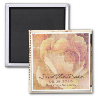 romantic vintage spring rose floral save the date magnets