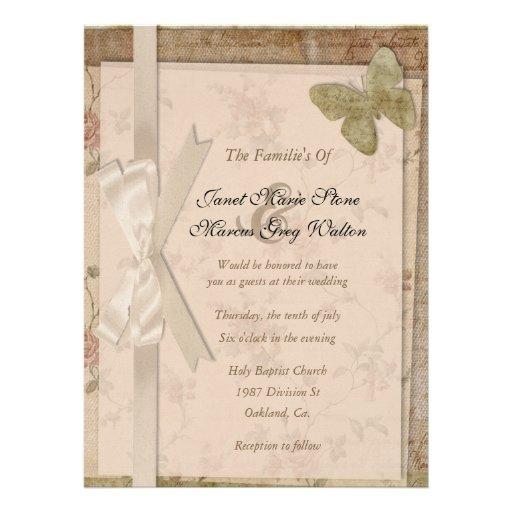 Romantic & Vintage Style Wedding Invitations