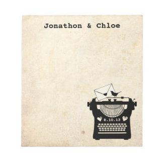Romantic Vintage Typewriter Notepads
