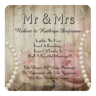 Romantic & Vintage Wedding Vow Renewal Invitation