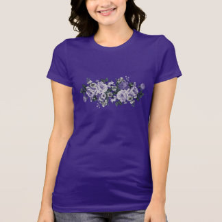 Romantic Violet Flowers design T-Shirts