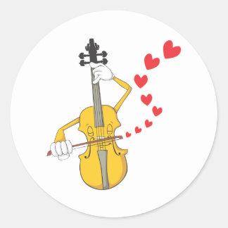 Romantic Violin Serenading Stickers