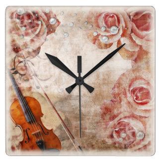 Romantic Violin Wall Clock
