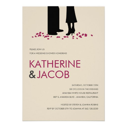 Romantic Vows Wedding Shower Invites Invitations
