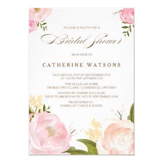 Romantic Watercolor Flowers Bridal Shower Invite