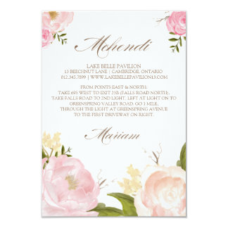 Romantic Watercolor Flowers Custom Order Card