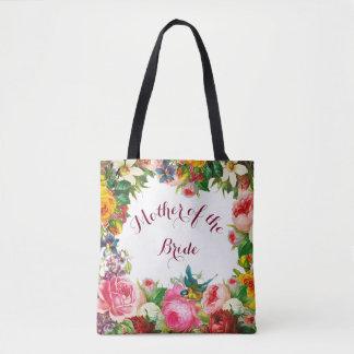 Romantic Watercolor Flowers Favour Tote Bag