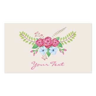 Romantic Watercolor Flowers Pack Of Standard Business Cards