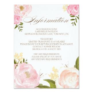 Romantic Watercolor Flowers Wedding Information 11 Cm X 14 Cm Invitation Card