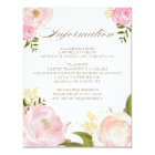 Romantic Watercolor Flowers Wedding Information Card