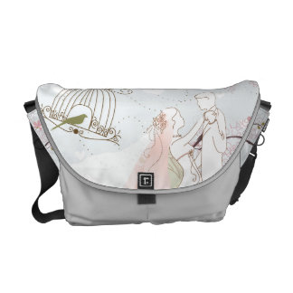 romantic wedding bag silver commuter bags