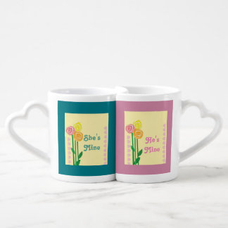 Romantic wedding coffee mug set
