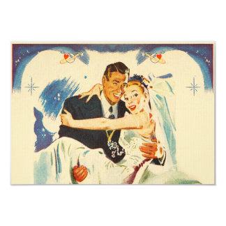 Romantic Wedding Couple 9 Cm X 13 Cm Invitation Card