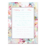 Romantic Wedding Pink Teal Watercolor Chic Floral 13 Cm X 18 Cm Invitation Card
