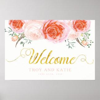Romantic Wedding Welcome Sign