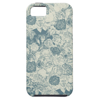 Romantic White and Blue Roses iPhone 5 Covers
