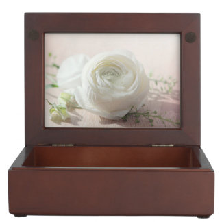 Romantic White Rose Keepsake Box