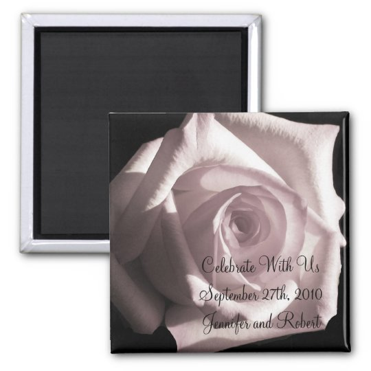 Romantic White Rose Magnet