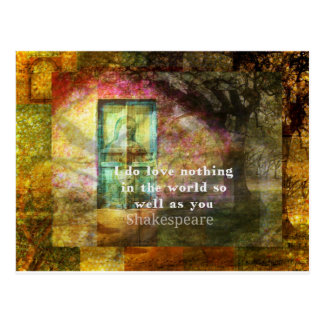 ROMANTIC William Shakespeare LOVE quote Postcard